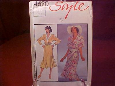 STYLE #4620 DRESS SEWING PATTERN UNCUT