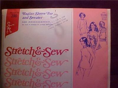 1974 ANN PERSON PATTERN RAGLAN SLEEVE TOP & SWEATER (sold)