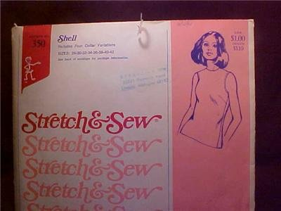 1973 ANN PERSON SEWING PATTERN SHELL SHIRT UNCUT