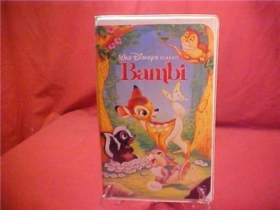 DISNEY CLASSIC BAMBI VHS VIDEO