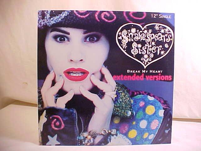 1988 SHAKESPEARS SISTER BREAK MY HEART LP RECORD ALBUM