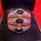 Vintage mens 18k black onyx ring