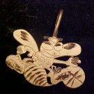 CHARLOTTE 14K GOLD PENDENT CHARM LETTER H