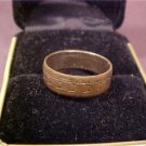 ANTIQUE 14K GOLD WIDE BAND VINTAGE RING