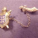 Vintage Antique Tie Bar Gold Toned Masonic Shriners