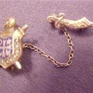 Vintage Antique Tie Bar Gold Toned Masonic Shriners