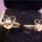 LOT OF 2 VINTAGE DISNEY COLLECTOR RINGS