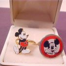VINTAGE DISNEY MICKEY MOUSE CHARACTER GOLD TONE RINGS