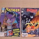 1989-90 LOT OF 2 DC BATMAN COMIC BOOK #445,#437