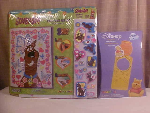 SCOOBY-DOO AND DISNEY FOAM ART KIT LOT OF 2