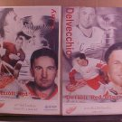 LOT OF 2 DETROIT RED WINGS NHL HOCKEY CANVAS POSTER