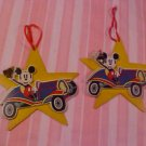 DISNEY MICKEY MOUSE WOODEN CHRISTMAS ORNAMENT