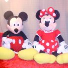 DISNEY MICKEY MOUSE & MINNIE LARGE PLUSH TOYS