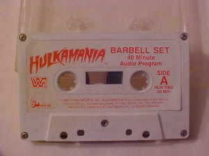 1985 WWF HULKAMANIA CASSETTE TAPE FOR BARBELL SET