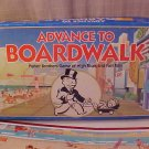 1985 ADVANCE TO BOARDWALK BOARD GAME COMPLETE