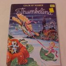 VINTAGE THUMBELINA COLOR BY NUMBER COLORING BOOK