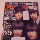 2001 ROLLING STONE MAGAZINE THE BEATLES