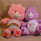 "LOT OF 2 14"" PLUSH CARE BEARS"