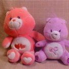 "LOT OF 2 10"" PLUSH CARE BEARS"