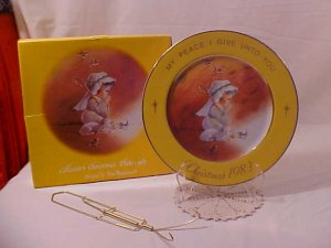 1983 EVE ROCKWELL MY PEACE I GIVE UNTO YOU PLATE MIB (SOLD)