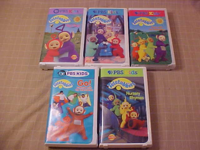 Lot Of 5 Teletubbies Vhs Video Pbs Kids Sold