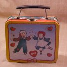 1998 Raggedy Ann and Andy mini Tin Lunchbox