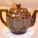 Vintage Japan Brown Floral Tea Pot