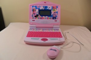 BARBIE B-BOOK CHILDRENS LEARNING LAPTOP COMPUTER