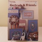 1986 LEISURE ARTS CROSS STITCH BOOK GERTRUDE AND FRIENDS #468