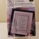 1996 11 marriage samplers united in god&#39;s love cross stitch book