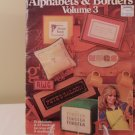 1981 LEISURE ARTS ALPHABETS AND BORDERS VOL. 3 CROSS STITCH BOOK