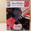 1992 TRUE COLORS BAND TASTIC APRON BORDERS CROSS STITCH BCL-10166