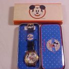 VINTAGE DISNEY MICKEY MOUSE WRIST WATCH WITH TIN