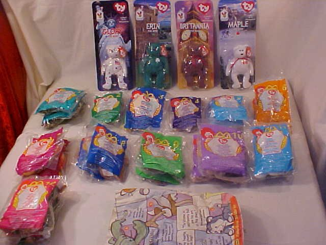 HUGE LOT OF TY TEENIE BEANIE BABIES MCDONALD'S