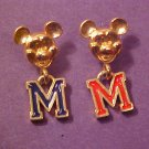 VINTAGE DISNEY MICKEY MOUSE PIERCED EARRINGS