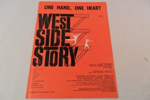 Item image	 1957 West Side Story One Hand One Heart Sheet Music