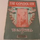 The GONDOLIER 1903 Intermezzo W C POWELL Sheet Music