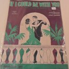 1929 IF I COULD BE WITH YOU ONE HOUR TO-NIGHT SHEET MUSIC