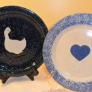 LOT OF 2 HAND CRAFTED STONE WEAR PLATES