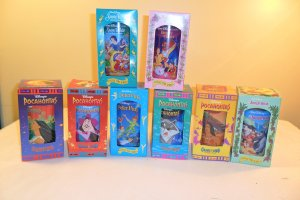 1994 BURGER KING WALT DISNEY CLASSIC COLLECTOR SERIES GLASSES ALL 8 MIB (SOLD)