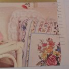 CROSS STITCH PATTERN BOUQUET ON RIBBONS PILLOW #50683