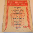 1945 BELWIN ELEMENTARY BAND METHOD FOR CLARINET MUSIC BOOK