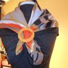 VINTAGE silk scarf SCARF BANDANA SHAWL 100% silk