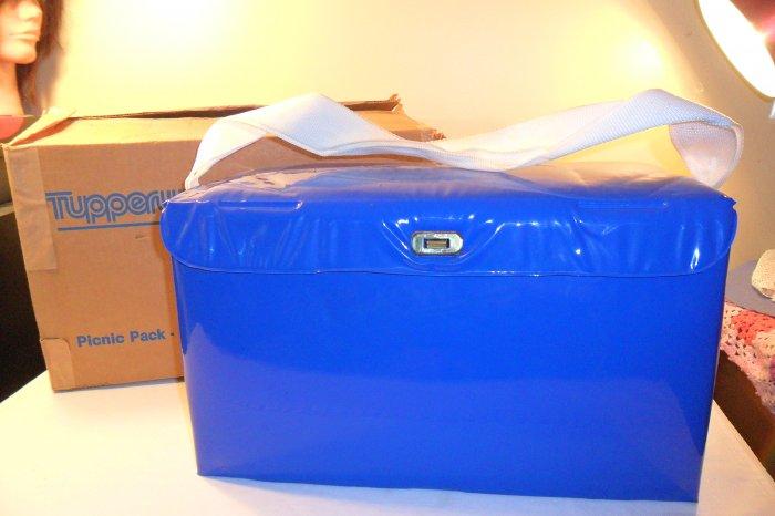 MIB RARE Vintage Tupperware 17 pc blue Picnic Set Unused