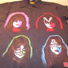 2001 KISS MEN'S SILK SHIRT SIZE XL RARE