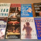 LOT OF 8 SUSPENSE PAPERBACK BOOKS DEAN KOONTZ AND MORE