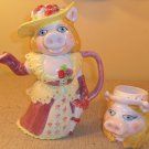 Vintage Miss Piggy Teapot Tea Pot and creamer Sigma Tastesetter