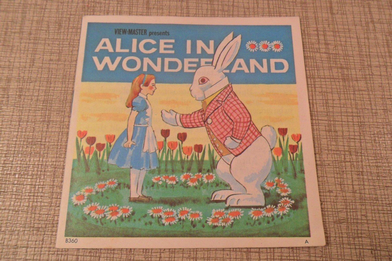 1952 View-Master Alice In Wonderland book