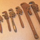 "Vintage Lot of pipe wrench tool 7"" to 18"" Adjustable Pipe Wrenches Mechanical"