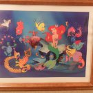 Disney Little Mermaid Ariel & friends Lithograph